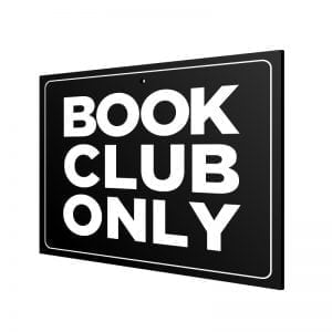 "Door Announcement ""Book Club"""