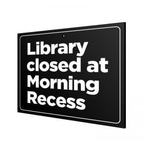 "Door Announcement ""Closed"" (Recess)"