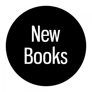 """New Books"" Hero Wall Signage Disc"